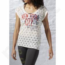 Marškinėliai treniruotėms Reebok New Yoga City W AI1995