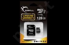 G.Skill atminties kortelė Micro SDXC 128GB Class 10 UHS-1 + adapter