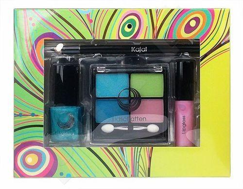 Makeup Trading (4x 1.5g šešėliai + 3g lūpdažis + 15 ml foril Polish + 1.6g akių pieštukas) Nice Set Summer, rinkinys moterims