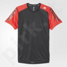 Marškinėliai bėgimui  Adidas Response Short Sleeve Tee M B43374