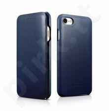 Premium leather flip-case, blue(iPhone 7/8)