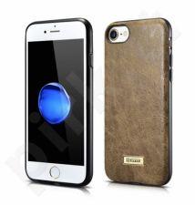 Fashionable leather back cover case, khaki (iPhone 7/8)