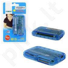 4World Universalus kortelių skaitytuvas 26 in1 USB 2.0