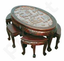 Stalas su kėdėmis 52x115x55cm