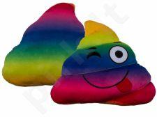 """Pliušinė vaivorykštinė pagalvė """"Emocija: kakutis"""" (30cm)"""