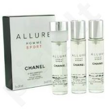 Chanel Allure Homme Sport, tualetinis vanduo vyrams, 3x20ml