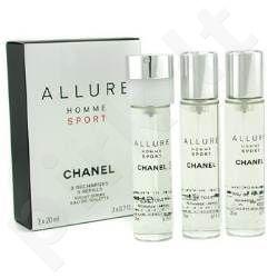 Chanel Allure Sport, tualetinis vanduo (EDT) vyrams, 3x20 ml