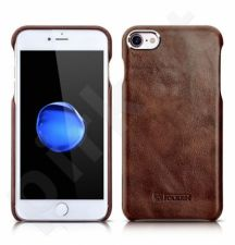 Leather back cover case, dark brown (iPhone 7/8)
