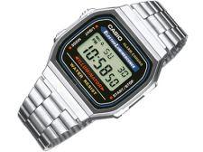 Casio Retro Collection A168WA-1WDF vyriškas laikrodis-chronometras