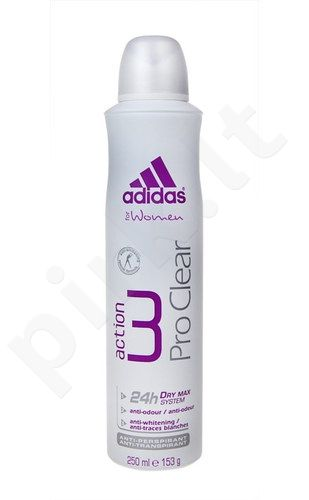 Adidas Action 3 Pro Clear, 150ml, dezodorantas moterims