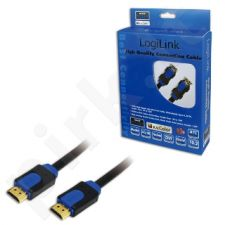 Kabelis HDMI LogiLink High Speed su Ethernet v.1,4 su 3D, 10m