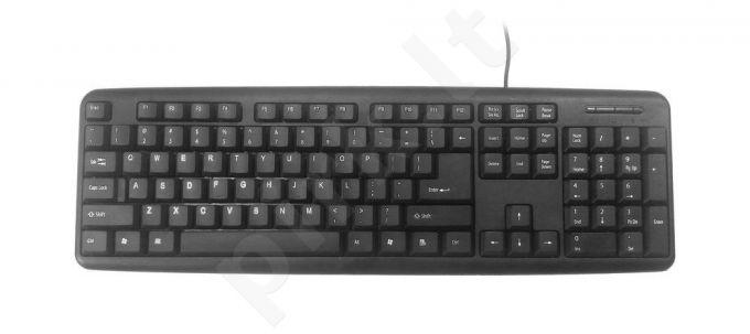 Klaviatūra Gembird KB-U-103 Standard USB, Juoda