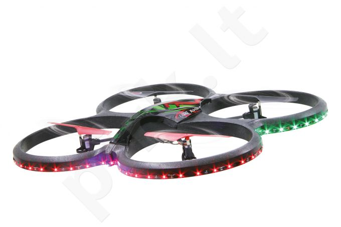 Radio bangomis valdomas Jamara Flyscout AHP+ Quadrocopt.Komp/LED/Kamera
