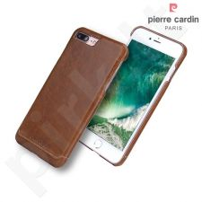 Leather back cover case, Pierre Cardin, brown (iPhone 7 Plus/ 8 Plus)