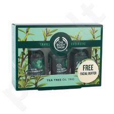 The Body Shop Arbatmedžio aliejaus trio rinkinys moterims, (3 x 10ml Arbatmedžio aliejus + Veido kempinelė )