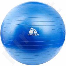 Gimnastikos kamuolys Meteor 65 cm su pompa mėlyna 31133