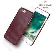 Leather back cover case, Pierre Cardin, red (iPhone 7 Plus/ 8 Plus)