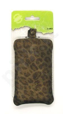 X71 Odinis universalus dėklas 3 Visin rudas leopard
