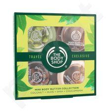 The Body Shop Mini kūno sviesto rinkinys moterims, (50ml kokoso kūno sviestas + 50ml alyvuogių kūno sviestas + 50ml taukmedžio kūno sviestas + 50ml Chocomania kūno sviestas)