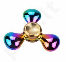 """""""Fidget Spinner"""" metalinis vaivorykštės spalvų suktukas, Trys lašai"""