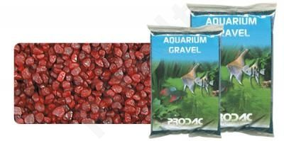 Gruntas akvariumui raudonas 2-3 mm 2.5 kg