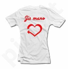 """Moteriški marškinėliai """"Jis mano"""""""