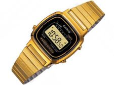 Casio Retro Collection LA670WGA-1DF moteriškas laikrodis Chronograph
