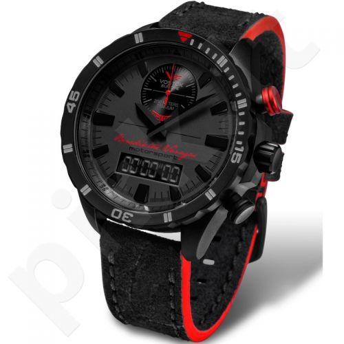 """Vyriškas laikrodis Vostok-Europe """"Rally Timer by Benediktas Vanagas. Black edition"""" - Limituota serija"""