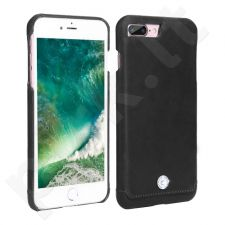 Leather back cover case with crystal, Pierre Cardin, black (iPhone 7 Plus/ 8 Plus)