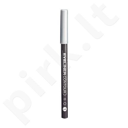 Gabriella Salvete Eyeliner Contour, akių kontūrų pieštukas moterims, 0,28g, (01 Graphite)