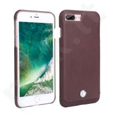 Leather back cover case with crystal, Pierre Cardin, brown (iPhone 7 Plus/ 8 Plus)