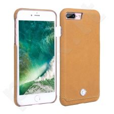 Leather back cover case with crystal, Pierre Cardin, mustard yellow (iPhone 7 Plus/ 8 Plus)