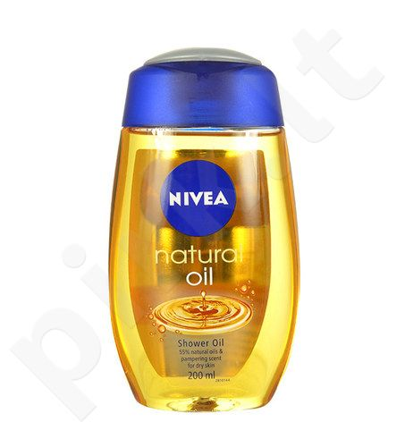 Nivea Natural Oil Shower Oil, kosmetika moterims, 200ml