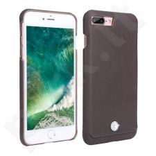 Leather back cover case with crystal, Pierre Cardin, dark brown (iPhone 7 Plus/ 8 Plus)