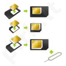 Adapteris Kit nano/microSIM/SIM Muvit juodas