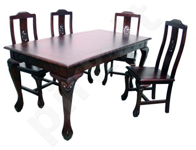 Stalas su kėdėmis 77x90x170cm