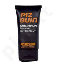 Piz Buin Mountain Sunkremas SPF6, kosmetika moterims, 40ml