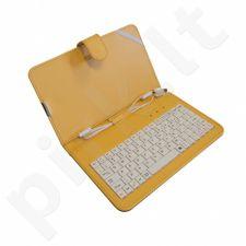 ART dėklas + klaviatūra USB micro+mini skirta planšetiniams kompiuteriams 7''  g