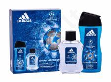 Adidas UEFA Champions League, rinkinys tualetinis vanduo vyrams, (EDT 100 ml + dušo želė 250 ml)