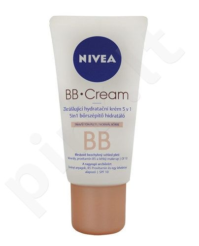 Nivea BB kremas 5in1 Beautifying Moisturizer, kosmetika moterims, 50ml, (Medium To Dark)