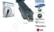 micro USB universalus laidas Telemax juodas
