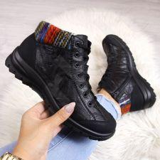 Odiniai auliniai batai moterims pašiltinti Rieker L7130-00