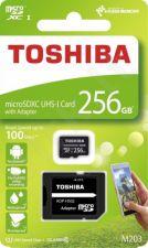 Atminties kortelė Toshiba Micro SDXC 256GB M203 Class 10 UHS-I + Adapteris