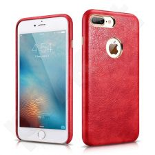 Back cover case with logo space, PU, red (iPhone 7 Plus/ iPhone 8 Plus)