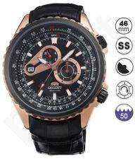 Laikrodis ORIENT   MULTI EYES - automatinis - BLACK DIAL - GOLD CASE - BLACK oda STRAP-