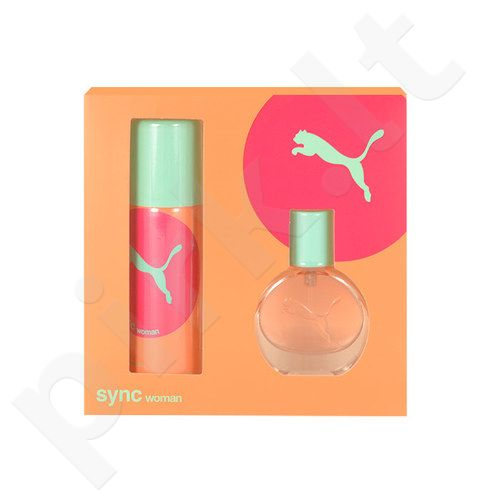 Puma Sync rinkinys moterims, (EDT 20ml + 50ml dezodorantas)