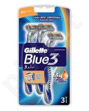 Gillette Blue3, skutimosi peiliukai vyrams, 3pc
