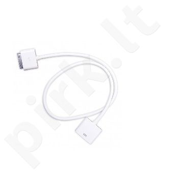 Apple iPhone 4 cable MALE-FEMALE Telemax baltas