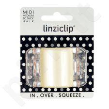 Linziclip Midi Hair Clip, kosmetika moterims, 1vnt, (Linen Pearl Translucent)