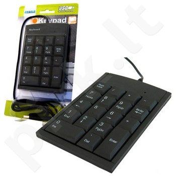 Skaičių klaviatūra 4World USB slim (7 mm)